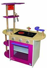 Beluga Spielküche Spielzeug Mädchen Küche aus Holz mit Zubehör Kinderküche pink