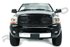 06-08 Dodge RAM Big Horn Black Front Hood Packaged Grille+Replacement Shell
