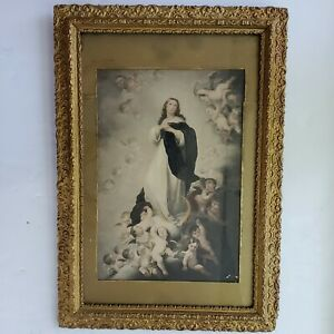 """""""Immaculate Conception of Les Venerables"""" Painting Art Framed Print Virgin Mary"""