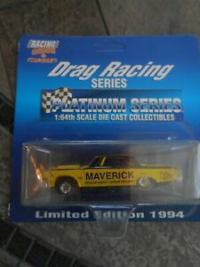 Action 1/64 Legends Drag Racing, complete set of 5 cars, made in 1994 & 1997.