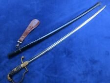 Original German Lion`S Head Sword And Scabbard With Hanger Made By Wkc Solingen