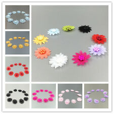 DIY Free 10-50 pcs Satin Ribbon Flower with pearl Wedding Appliques/Crafts