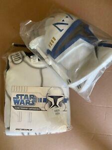Star Wars Clone Trooper Captain Rex Adult Mens Costume Size Small/Medium