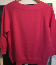 PUBLIC Pullover Gr. 38 Rosa Langarm Baumwolle