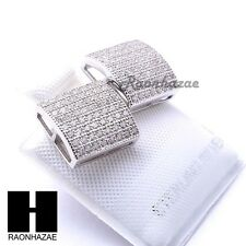 Iced Out Sterling Silver .925 Lab Diamond 10mm Square Screw Back Earring SE032S
