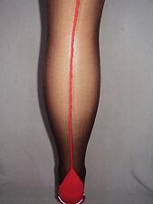 Silky Scarlet seamer tights, seamed, cuban heel seam, Size M, Nude or Black