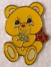 Hat Lapel Pin Scarf Clasp Animal Teddy Bear with flower NEW