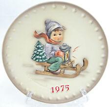 Hummel Goebel 5th Annual Plate 1975 Ride Into Christmas Jahresteller