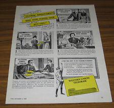1947 Vintage Ad Western Union Telegrams Store Fashion Show