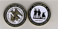 CHALLENGE COIN AUSA TOPEKA KANSAS LEAVENWORTH FORT RILEY ASSOCIATION US ARMY