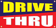 Drive Thru Vinyl Display Banner with Grommets, 2'hx4'w, Full Color