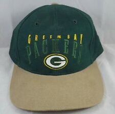 '90s Vintage GREEN BAY PACKERS Cotton Strapback Hat Embroidered Ball Cap W/ Tags