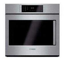 """Bosch 30"""" Stainless Steel Single Electric Convection Wall Oven HBLP451LUC"""