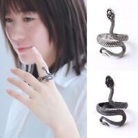 Punk Vintage Snake Shape Alloy Unisex Rings Open Adjustable Finger Ring Jewelry