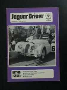 JAGUAR DRIVER JOURNAL FEBRUARY 1978