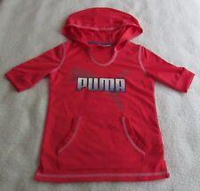 premium selection dd4a6 2958c Puma Niñas Mangas Cortas Con Capucha Top Rosa-Talla S-Nuevo con  etiquetas-MSRP 34.99