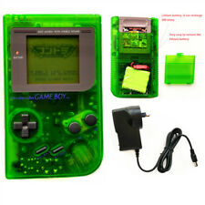 Rechargeable Nintendo Game Boy DMG-01 Console & Game Card & Charger -Clear Green