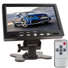 "HD 800x480 7"" Color TFT LCD Screen 2 Video Input HDMI + VGA Car Rearview Monitor"