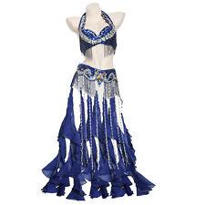 handmade bead Belly Dance Costume Outfit Set Bra Belt Bollywood Carnival 2PCS