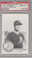 1985 Chong Modesto A's Mark Mcgwire RC PSA 10 Hot #17 Correct Spelling ROOKIE