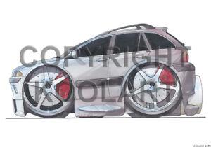 "Koolart 4x4 4 x 4 7"" x 5"" x 2 Graphic Bmw 3 Series Touring Laptop Sticker 1170"