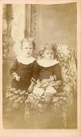 1870s Antique Civil War Era CDV Photo Victorian Carte de Visite Cute Kids