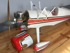 Huge Vintage 2 x Wing MODEL AIRPLANE Aircraft, MOKI XL Engine-Remote Control, RC