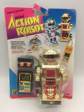 Vintage Toy Mini Action Robot Gold Remote Control Controlled Space Toys 1980's