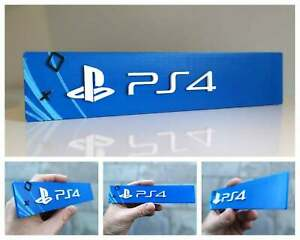 Sony Playstation 4 3D logo / shelf display / fridge magnet - gaming collectible