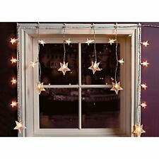 20 LED Star Curtain Window Fairy Lights Twinkle Christmas Display Party Wedding