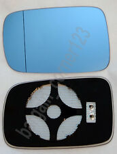 Left Passenger Side Wing Mirror Glass HEATED BLUE ASPHERIC BMW 3 E46 COUPE 98-05