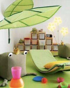 IKEA LOVA Green Leaf Childrens Kids Bed Canopy Tent Decor Nursery Bedroom