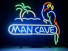 "New Man Cave Bar Parrot Palm Tree Neon Light Sign 17""x14"""