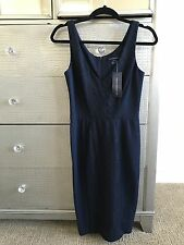 $218 nwt New French Connection Uk FCUK Navy Dress Work Cocktail 4 36