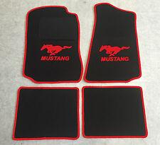 Autoteppich Fußmatten für Ford Mustang 1994'-2004' schwarz rot  4teilig Neuware