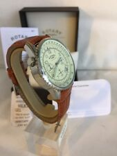 Rotary Men's Brown and Cream Dial Chronograph Strap Watch GS03447/08