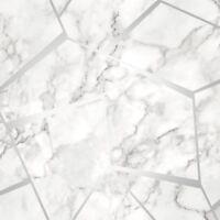 FRACTAL GEOMETRIC MARBLE WALLPAPER SILVER FINE DECOR FD42263 FEATURE WALL NEW
