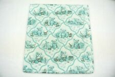 """Toile Teddy Bears Rabbits Toys Books Baby Blanket Can Be Personalized 36x40"""""""