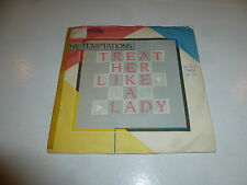 "THE TEMPTATIONS - Treat Her Like A Lady - 1980 UK 2-track 7"" Single"
