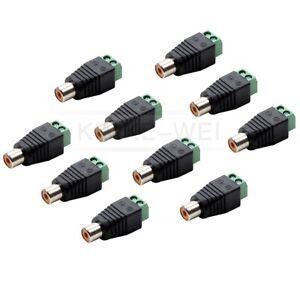 10Stk Adapter Cinch RCA-Buchse auf Klemmen Terminalblock auf Chinch Kupplung Neu