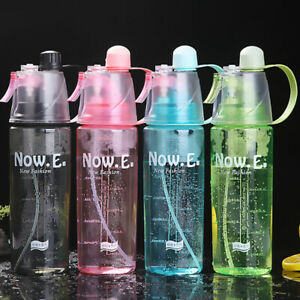600ml Spray Water Cup Portable Plastic Outdoor Replenishment Press Spray Can New