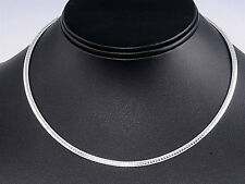 USA Seller Italian Omega 3mm Necklace Sterling Silver 925 Best Deal Jewelry 20""