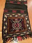 "Large Hand Woven Made Wool VINTAGE AFGHAN Khurjeen SaddleBags Art Rugs 43""x18"""