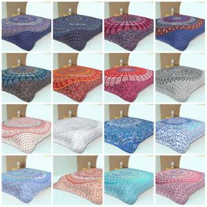Hippie Indian Tapestry Bedspread Mandala Decor Dorm Bedding Bed Cover Boho Art