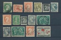 CANADA : Lot of 15 very old Stamps . Good used stamps High CV$420 A2052