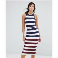 Ted Baker Yuni Rowing Dress Size 5 (US 12)  Nautical Belted NWT