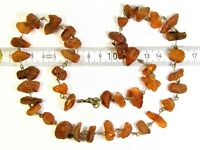 Old vintage Baltic Amber necklace 35 grams authentic natural genuine retro 3452
