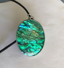 100% Natural New Zealand Paua Shell Pendant