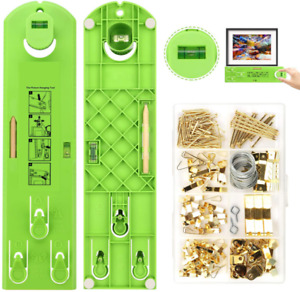 Picture Hanging Kit, Picture Frame Hanger Tool, 222 Pieces Heavy Duty Photo Hang