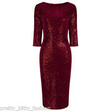 Red Velour Sequin Wiggle Dress